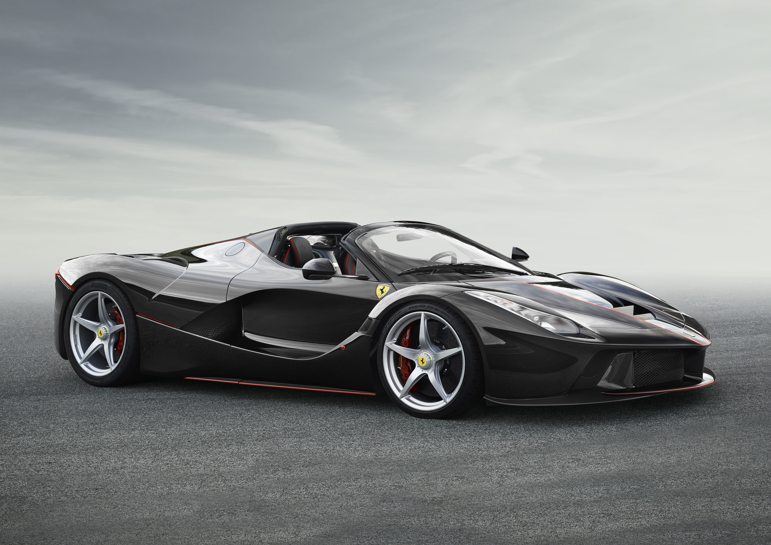 The first photograph of the open-top version of the LaFerrari