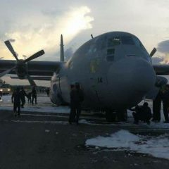 RMAF C130 Hercules landed without tyres