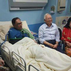 PM Najib visits opposition leader Anwar Ibrahim at HKL