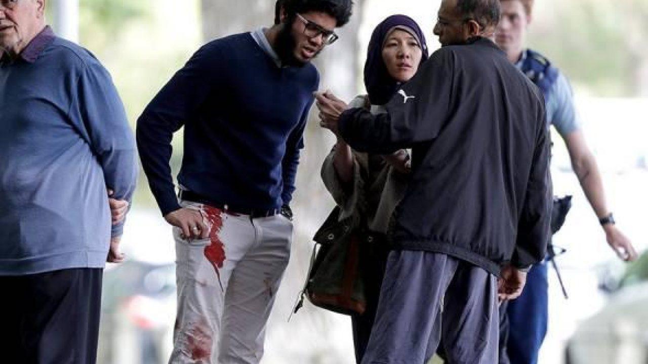 نتيجة بحث الصور عن Witness the moment of the attack on two mosques in New Zealand and the fall of 60 victims